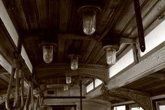 Uitstekende tram Royalty-vrije Stock Afbeeldingen