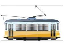Uitstekende tram royalty-vrije illustratie