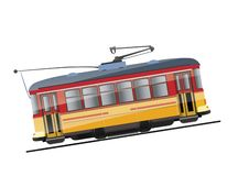 Uitstekende tram vector illustratie