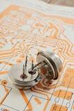 Uitstekende transistors Royalty-vrije Stock Afbeeldingen