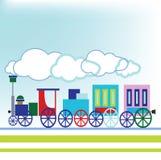 Uitstekende trein Stock Foto