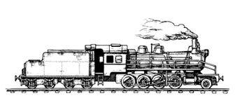 Uitstekende trein Royalty-vrije Stock Afbeeldingen