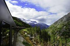 Uitstekende Trein uit Skagway Alaska Royalty-vrije Stock Afbeeldingen