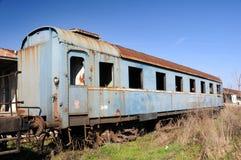 Uitstekende treinauto's Royalty-vrije Stock Afbeelding