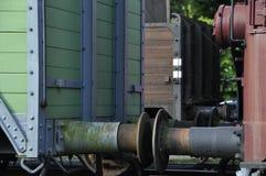 Uitstekende treinbuffer Royalty-vrije Stock Foto