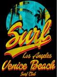 Uitstekende Tropische grafisch met het strand van Florida van het typografieontwerp Royalty-vrije Stock Foto's