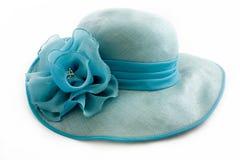 Uitstekende turkooise hoed Stock Afbeeldingen