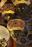 Uitstekende Turkse Lamp Royalty-vrije Stock Foto's