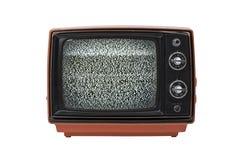 Uitstekende TV met geïsoleerd statisch stock afbeeldingen