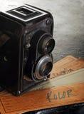 Uitstekende tweeling reflexcamera Stock Foto