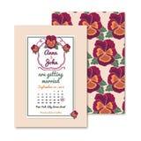 Uitstekende uitnodigingenkaarten voor huwelijksdecoratie Royalty-vrije Stock Fotografie