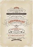Uitstekende Uitnodigingsaffiche Royalty-vrije Stock Afbeelding