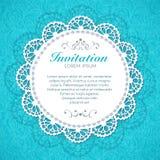 Uitstekende uitnodigingskaart. Stock Afbeelding