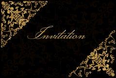 Uitstekende uitnodigingskaart Royalty-vrije Stock Afbeeldingen