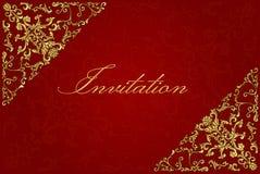 Uitstekende uitnodigingskaart Royalty-vrije Stock Afbeelding