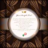 Uitstekende uitnodigingskaart of achtergrond Royalty-vrije Stock Foto's