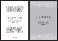 Uitstekende uitnodigingskaarten stock illustratie
