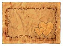 Uitstekende valentijnskaartachtergrond Stock Foto's
