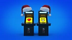 Uitstekende van het de machineconcept van het arcadespel Vrolijke Kerstmis Stock Fotografie
