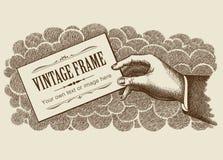 Uitstekende van het Frame Vector Als achtergrond Royalty-vrije Stock Fotografie