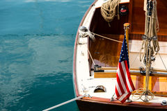 Uitstekende Varende boot Royalty-vrije Stock Foto