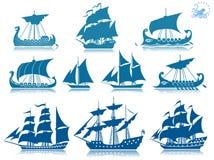 Uitstekende varende boten Stock Afbeelding