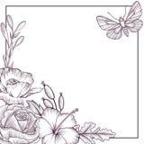 Uitstekende vector bloemensamenstelling stock illustratie