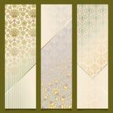 Uitstekende vector het ontwerpreeks van het banners retro patroon Stock Fotografie