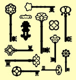 Uitstekende vector originele geplaatste sleutels Royalty-vrije Stock Foto's