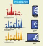 Uitstekende vectorreeks infographic elementen Stock Fotografie