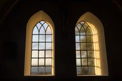 Uitstekende vensters Stock Afbeelding