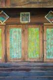 Uitstekende vensters in de stijl van Azië royalty-vrije stock afbeeldingen