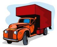 Uitstekende verhuiswagen vector illustratie