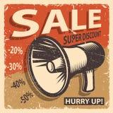 Uitstekende verkoopaffiche vector illustratie