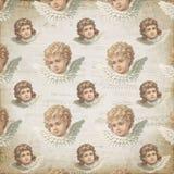 Uitstekende Victoriaanse Engelen - Pastelkleurengel - Bladmuziek - Gevormd Digitaal Document Als achtergrond - het Verpakken Docu royalty-vrije illustratie
