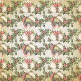 Uitstekende Victoriaanse - Kerstmis - Hulst - Achtergrondtextuur - Digitaal Document - Vakantie het Bewerken vector illustratie