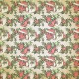 Uitstekende Victoriaanse - Kerstmis - Hulst - Achtergrondtextuur - Digitaal Document - Vakantie het Bewerken royalty-vrije illustratie