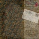 Uitstekende Victoriaanse Prentbriefkaarachtergrond Stock Afbeeldingen