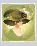 Uitstekende victorian dame vector illustratie