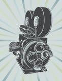 Uitstekende videocamera vector illustratie