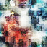 Uitstekende vierkante naadloze textuur met grungeeffect Stock Foto