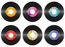 Uitstekende vinyl geïsoleerdee verslagreeks Stock Foto's