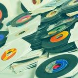 Uitstekende vinylachtergrond Stock Foto