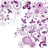 Uitstekende violette kaart stock illustratie