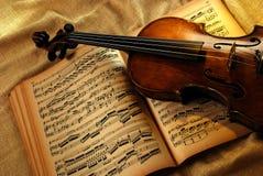 Uitstekende viool Royalty-vrije Stock Foto's