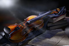 Uitstekende viool Royalty-vrije Stock Afbeeldingen