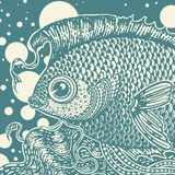 Uitstekende vissen Royalty-vrije Stock Afbeeldingen