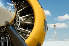 Uitstekende Vliegtuigmotor royalty-vrije stock fotografie