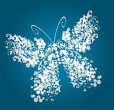 Uitstekende vlinder Stock Foto's