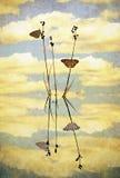 Uitstekende Vlinderbezinningen stock illustratie